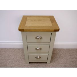 Tesco direct: Aspen Painted Oak Sage Grey 3 Drawer Bedside Table