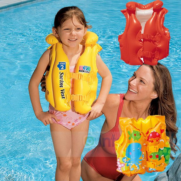 Baby Kids Toddler Beach Inflatable Swim Wear Vest Safety Life Jacket Pool Float Beach Inflatables Toddler Beach Baby Kids