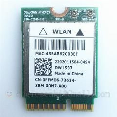Dw1537 Atheros Qcsnfa282 Wifi Wlan Card+Bluetooth M 2 For