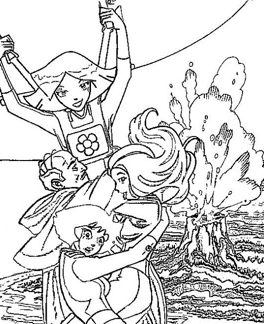 Totally Spies Coloring Pages Games