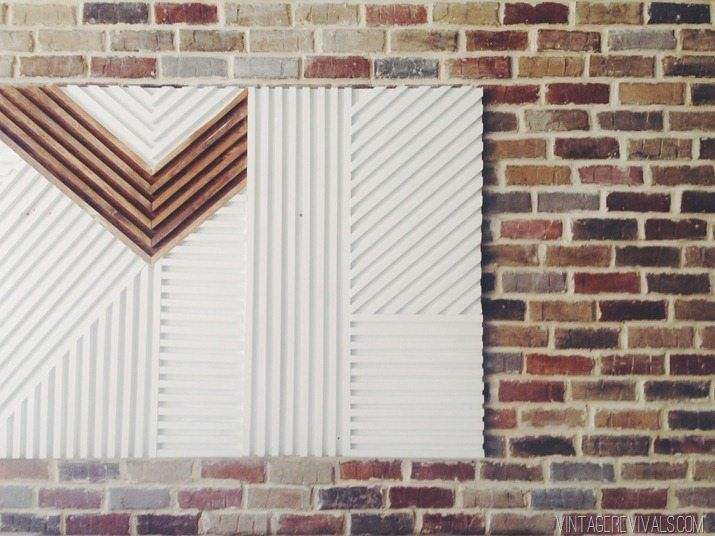 DIY Square Dowel Art  Vintage Revivals Easy DIY Tutorial for this large wall art that will lighten up any room!  #wallart #dowelart