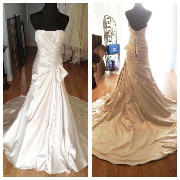 "Spotted while shopping on Poshmark: ""NWOT Silvery Memories Maggie Sottero Wedding Dress""! #poshmark #fashion #shopping #style #Maggie Sottero #Dresses & Skirts"