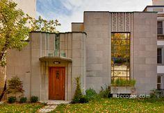 Ernest Cormier Art Deco House, Montreal, Quebec. Former house of ex Prime Minister Pierre Elliot Trudeau
