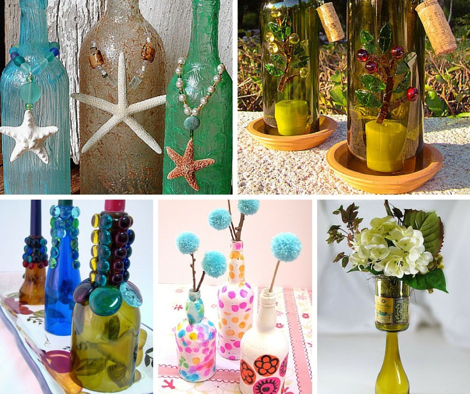Ideas For Wine Bottle Decoration Bottoms Up 11 Wine Bottle Craft Ideas  Wine Bottle Crafts