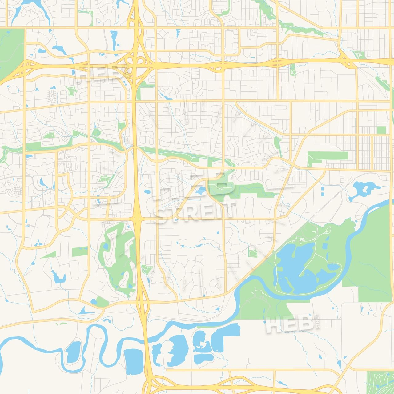 Des Moines Map Usa on