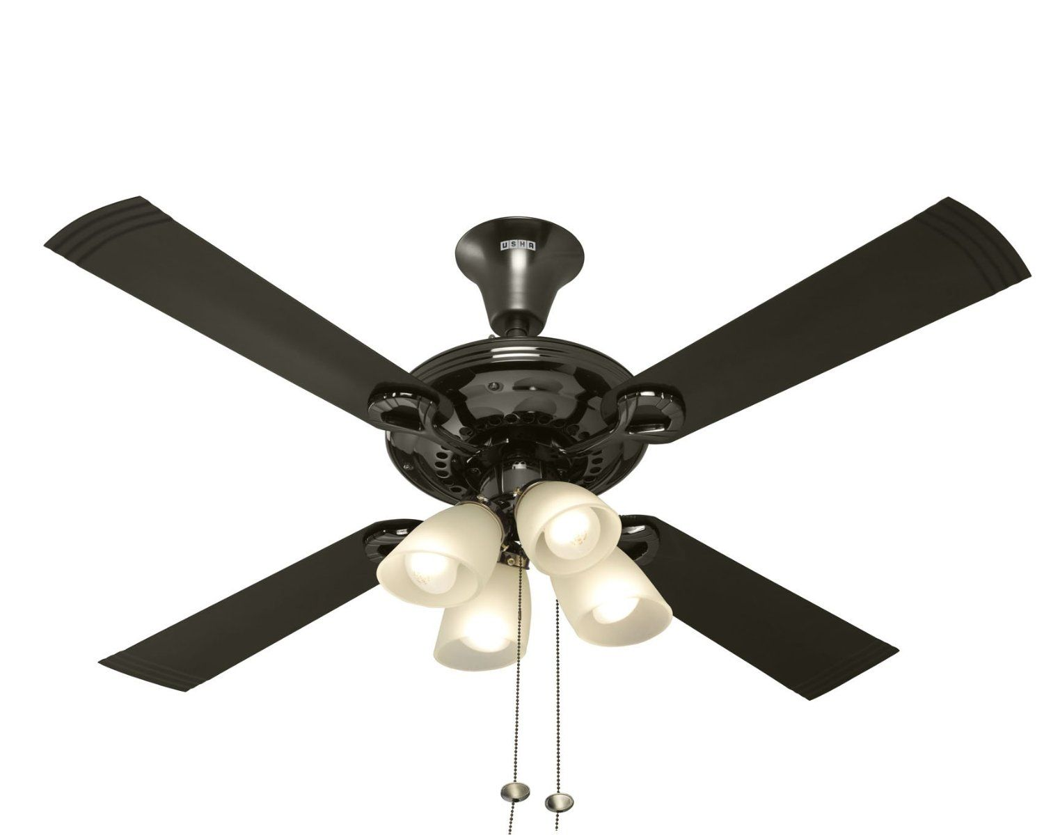 Usha Fontana Lotus 1230mm Ceiling Fan Black Chrome Amazon In