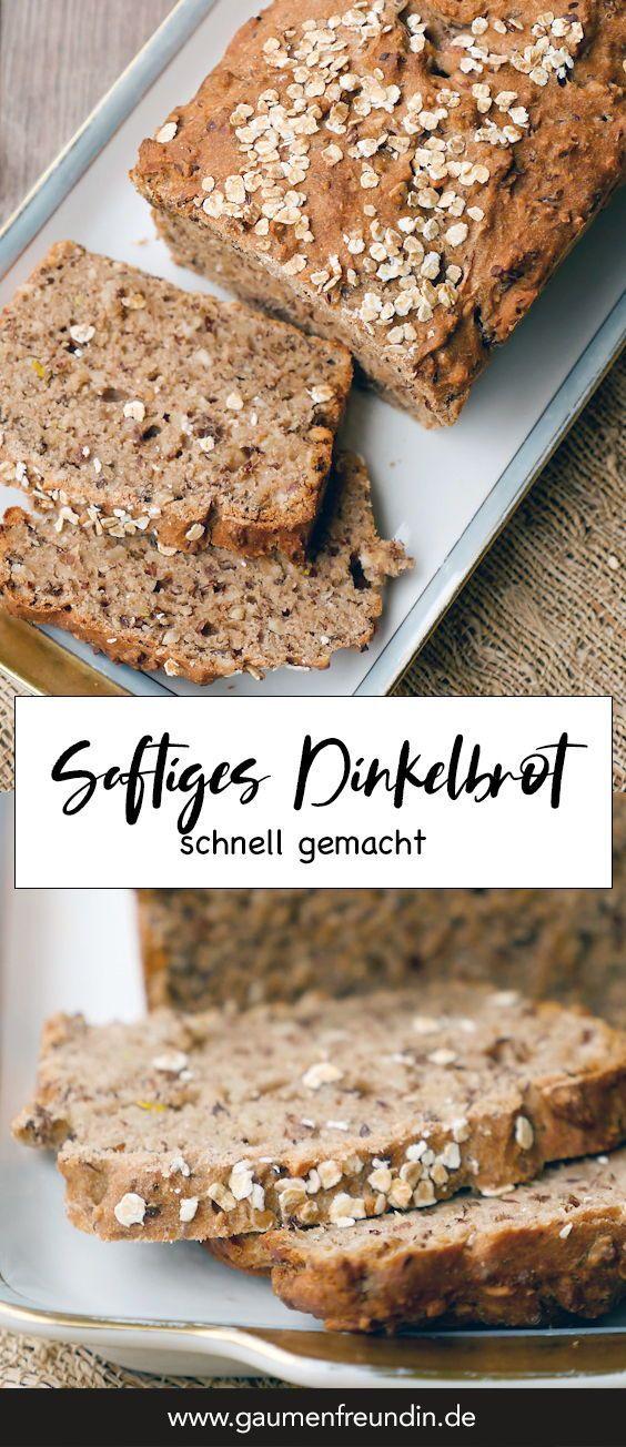 Gesundes Dinkel-Vollkornbrot mit Leinsamen #healthybreakfast