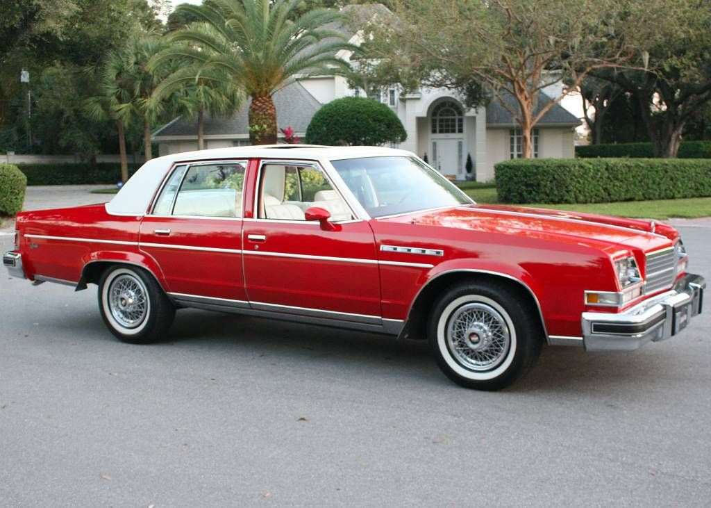 1978 Buick Electra Limited In Bright Red And White Buick Cars Buick Electra Old School Cars