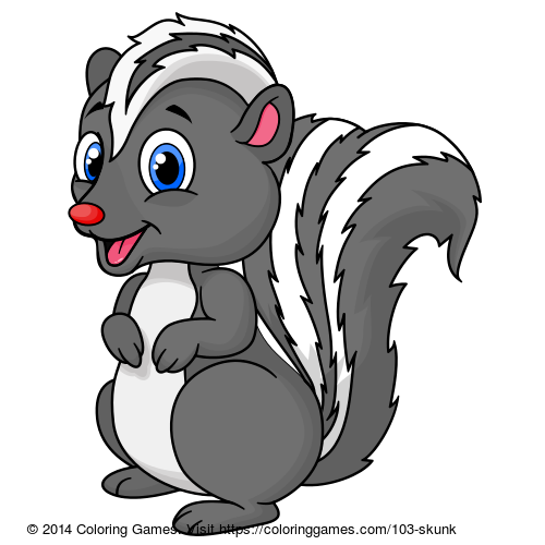 Skunk coloring page Animal Coloring Pages Pinterest