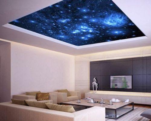 Galaxy ceiling sticker
