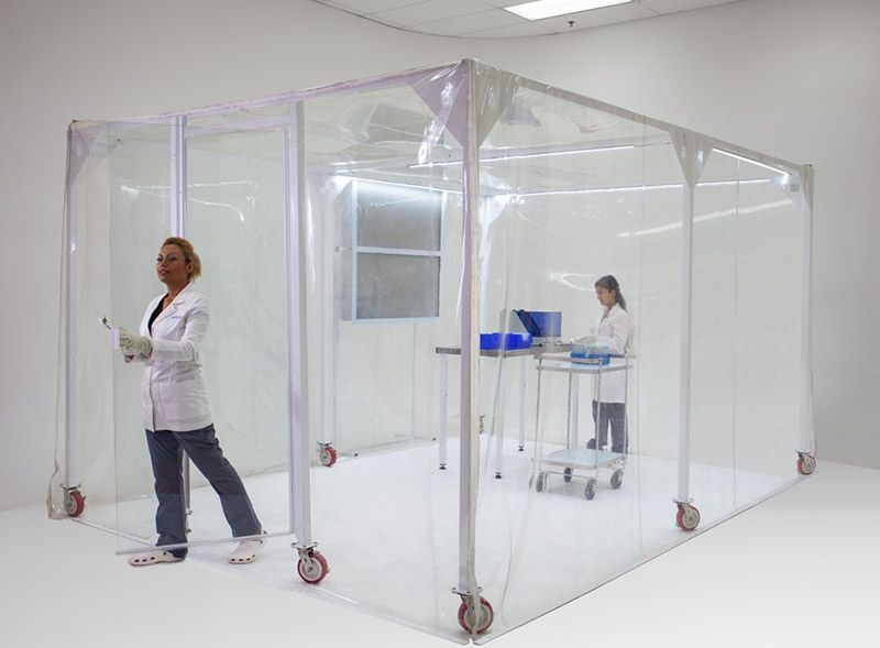 Ez Up Cleanroom Modular Enclosure Modular Clean Room Vinyl Panels