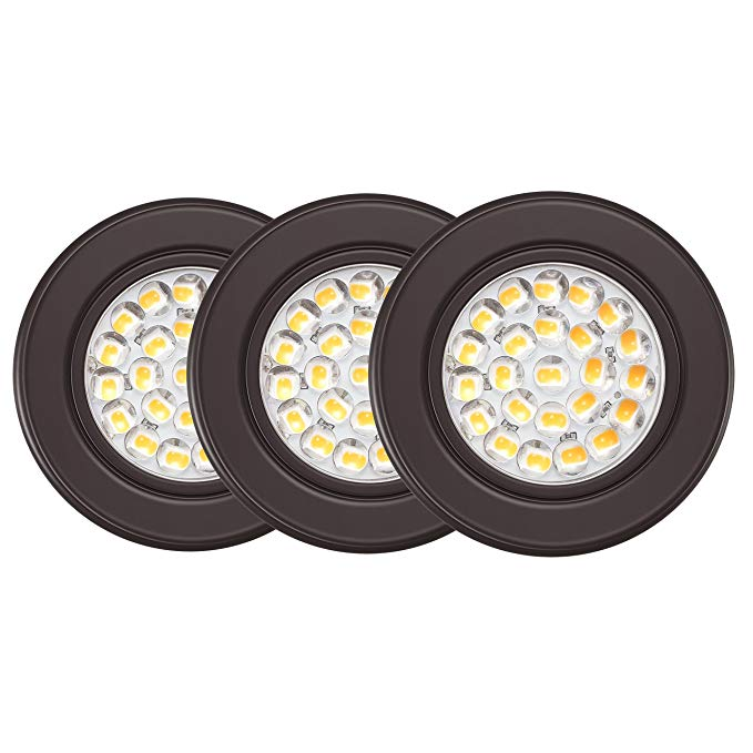 Getinlight Dimmable Led Puck Lights Kit With Etl Listed Recessed Or Surface Mount Design Soft White 3000k 12v 2 5w In 2020 Led Puck Lights Puck Lights Dimmable Led