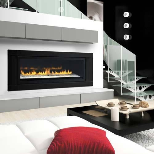 Napoleon Lhd50 Linear Gas Fireplace Modern 50 Direct Vent W Black