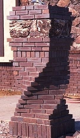 Books For Brickwork Twisted Pillars Brick Design Brick Brick Art