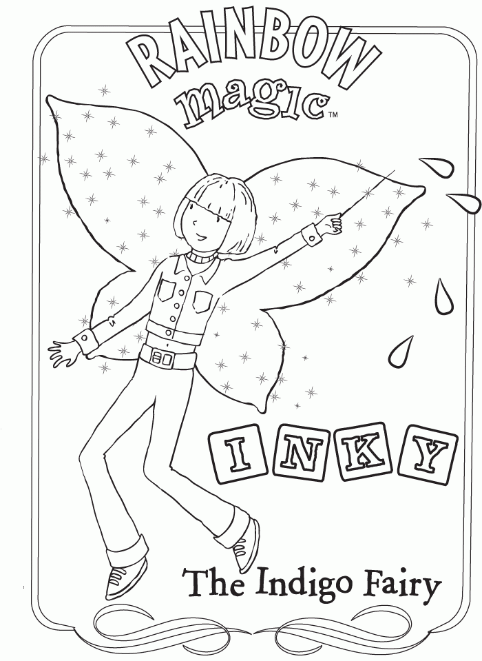 Download Or Print This Amazing Coloring Page Rainbow Magic Coloring Page Indigo Rainbow Magic Books Rainbow Magic Rainbow Magic Fairies