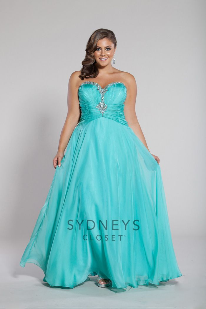 Sydneys Closet Chiffon Plussize Dresses Are Perfect For Prom