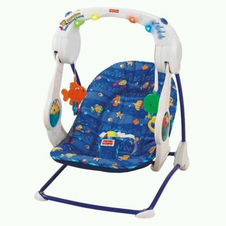 Fisher Price Portable Aquarium Baby Swing Motorized Battery This