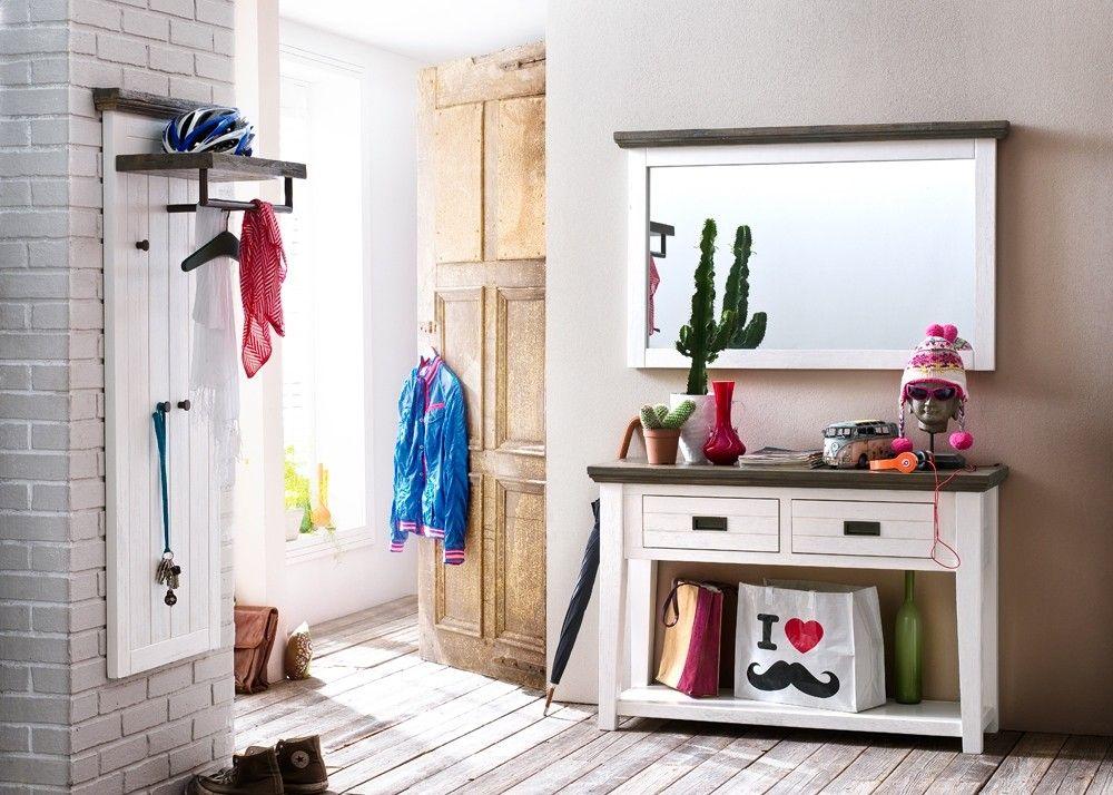Garderobe Clement Garderobenset 4 Landhausstil Holz Akazie Weiß 20853. Buy  Now At Https:/