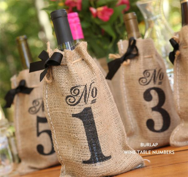 The Wedding Outlet Win 500 Gift Certificate Ruffled Table Numbers Wedding Diy Burlap Table Numbers Wine Bag