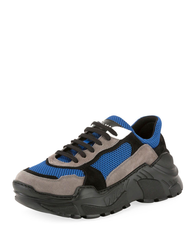 BALMAIN MEN'S JACE LOW TOP TECH SNEAKERS. #balmain #shoes