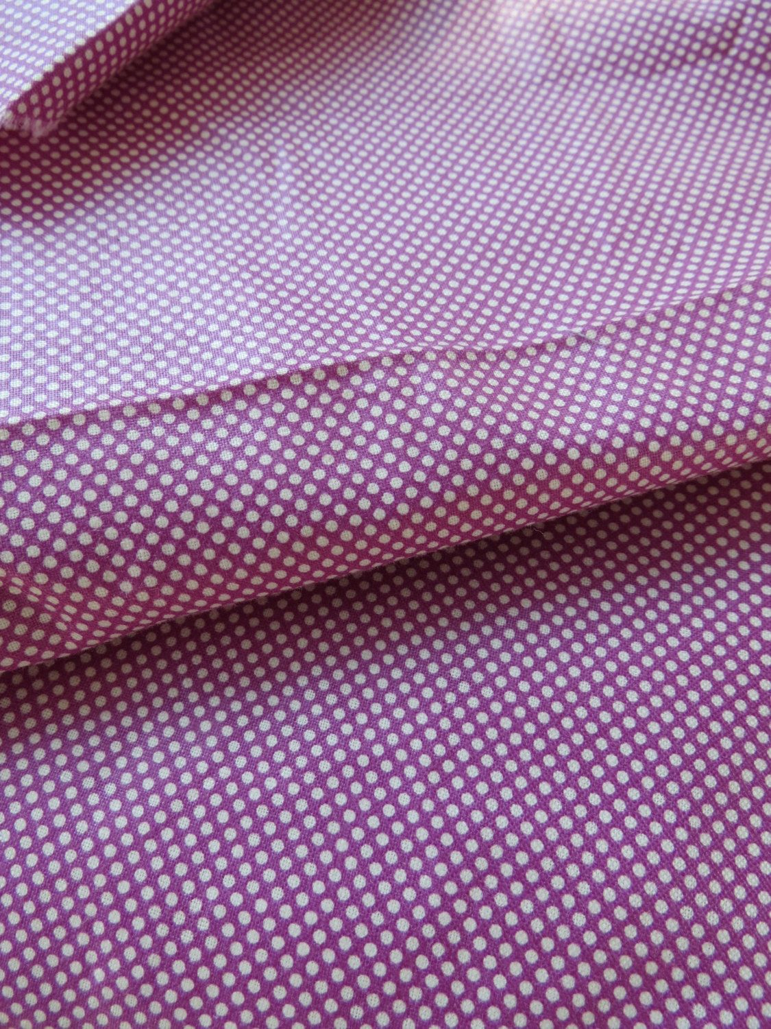 Enough fabric for a quilt backing ~ 9 yards Vintage Purple TINY White Polka Dots Printed Cotton Fabric Glazed 36 inch Wide Chintz by LeonasOldeLinens on Etsy