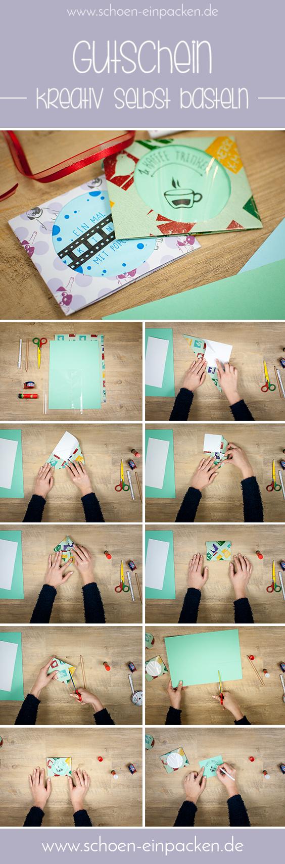 kreativen Gutschein basteln ganz einfach eine tolle Verpackungsidee! #gutscheinbasteln
