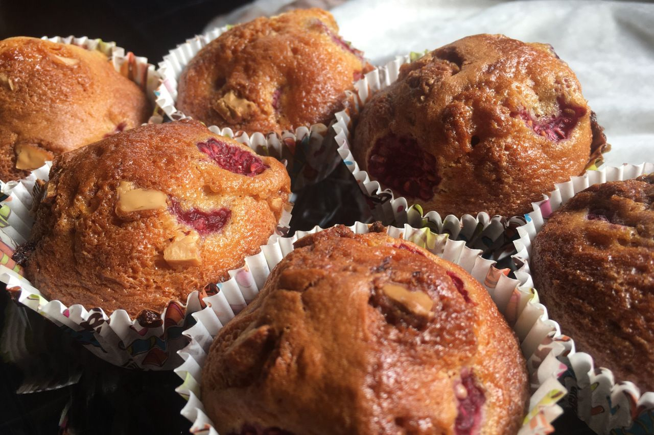Recette Muffins Chocolat Blanc Framboise Facon Colombus Cafe Food