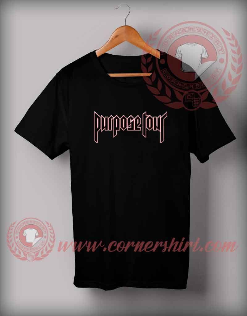 Purpose Tour Custom Design T Shirts Custom Shirt Design In 2018