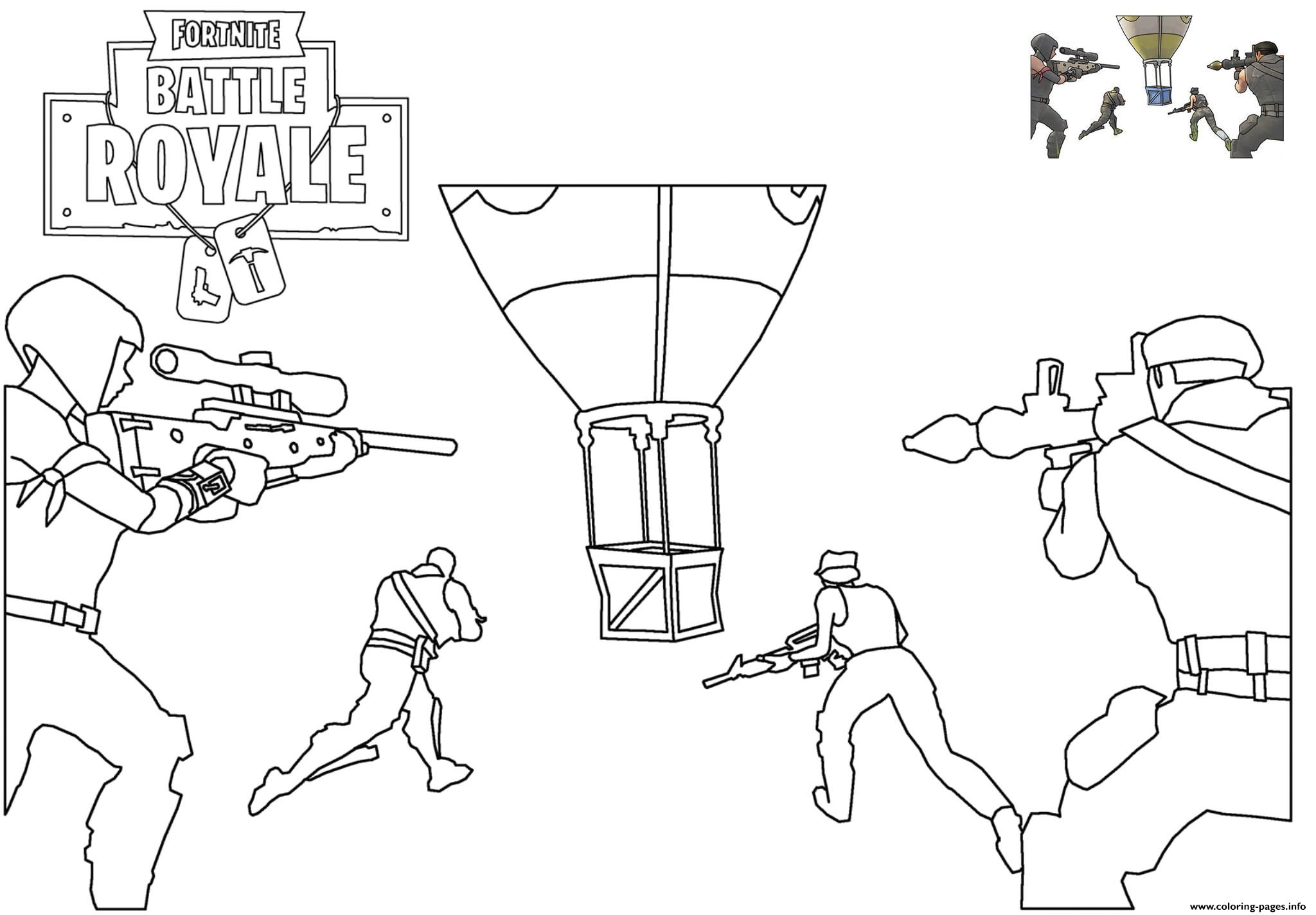 Print Supply Drop Fortnite Battle Royale Coloring Pages