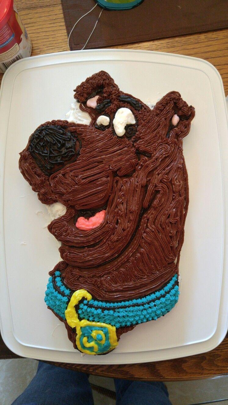 Scooby Doo Cake Made With Wilton Cake Pan Wilton Cake