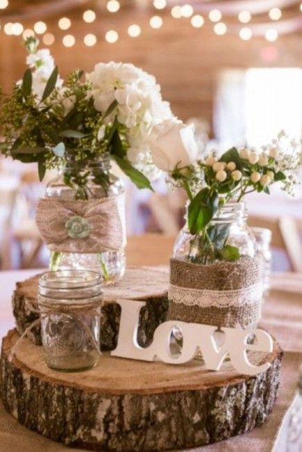 decoration pour un mariage champetre