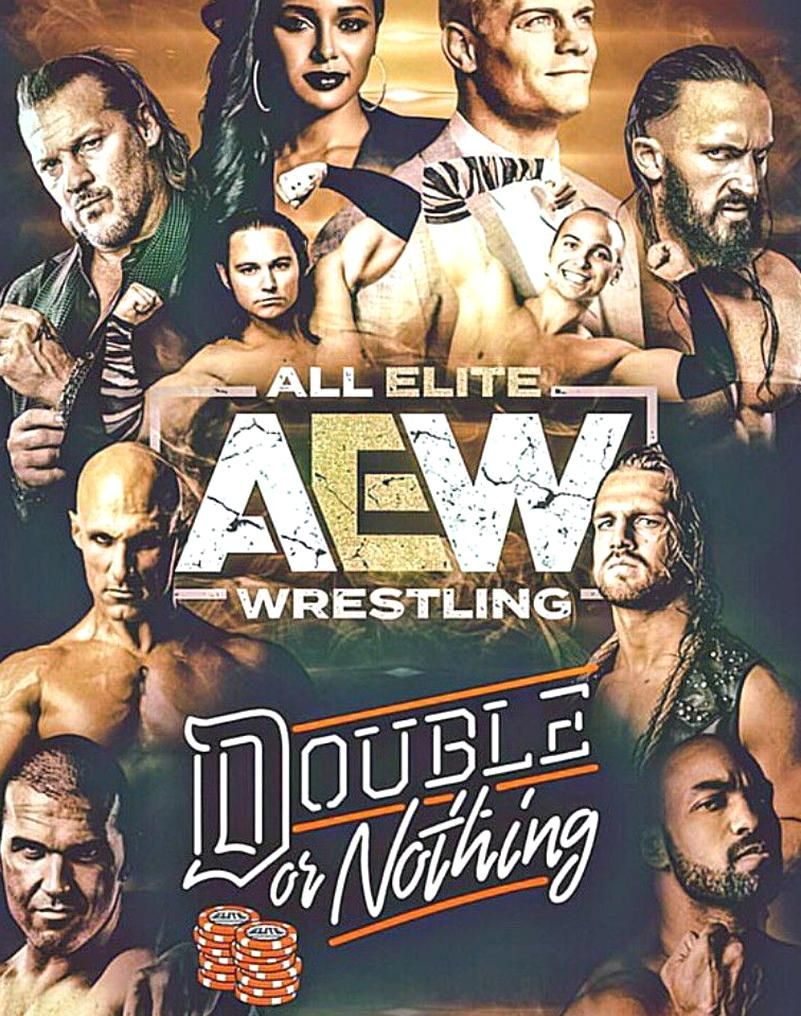 All Elite Wrestling Double Or Nothing In 2020 Wrestling Posters Professional Wrestling Pro Wrestling