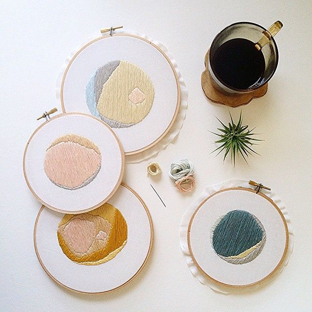 Embroidered art by Sarah Benning