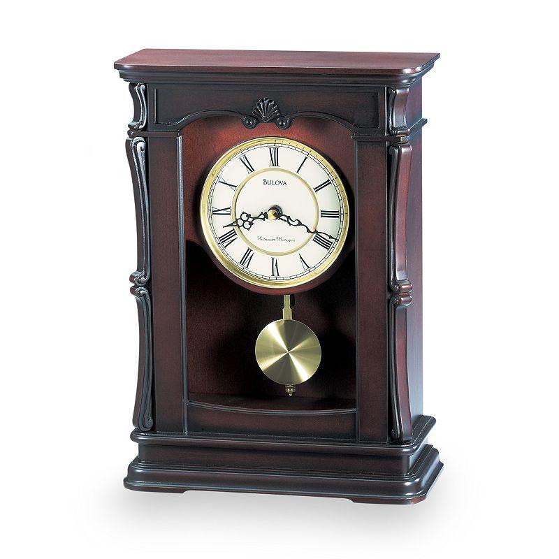 Bulova Abbeville Wood Musical Mantel Clock B1909 Mantel Clock Clock Table Clock