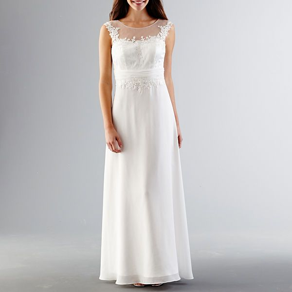 Decode 1.8 Illusion Top Gown With Lace Bodice