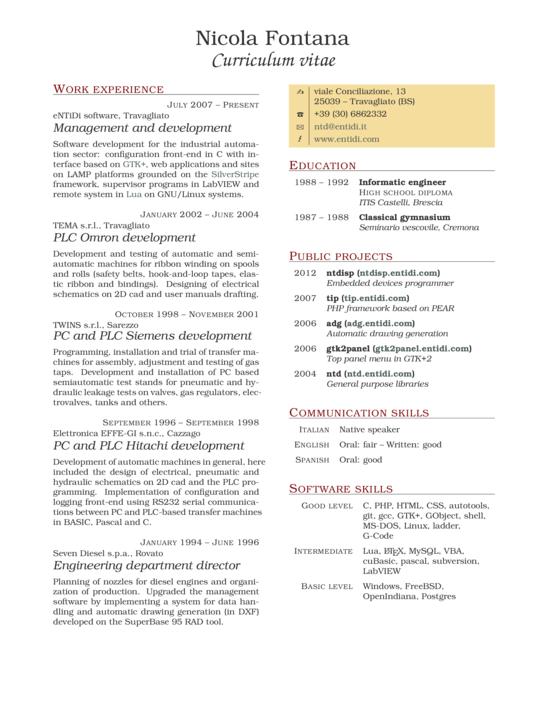 2 Column Resume Format Resume design template, Resume