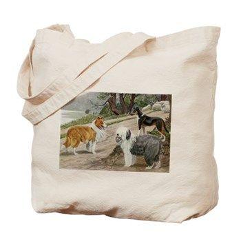 Vintage dogs Tote Bag