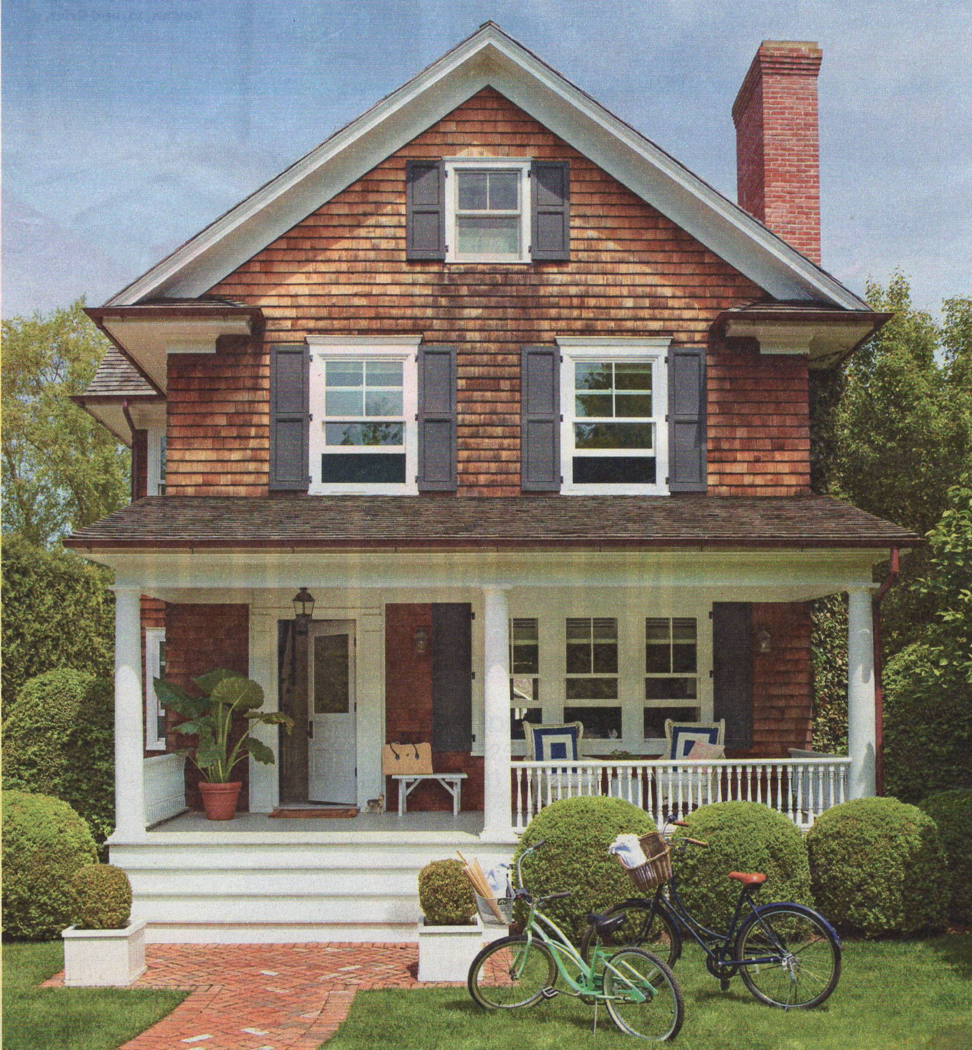 Porch shingles steps exteriors pinterest casas - Porches de casas de campo ...