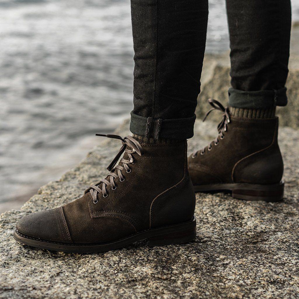 Boots outfit men, Black suede chelsea
