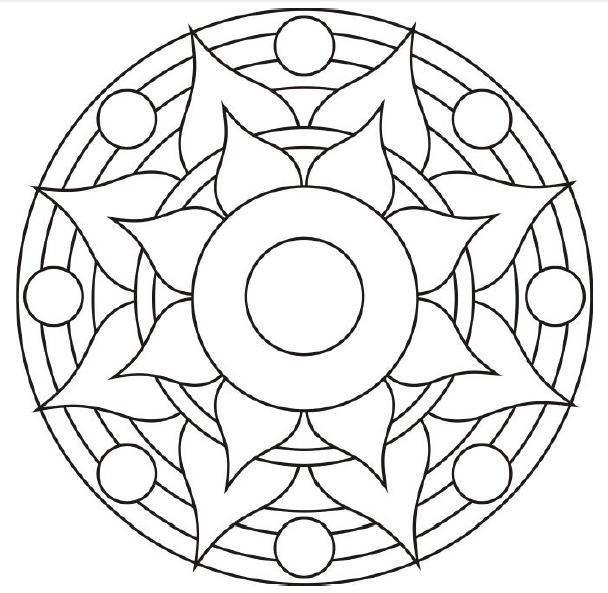 Resultado De Imagen Para Mandalas Faciles De Hacer Tecnica Puntillismo Mandalas Para Colorear Imagenes De Mandalas Como Dibujar Mandalas
