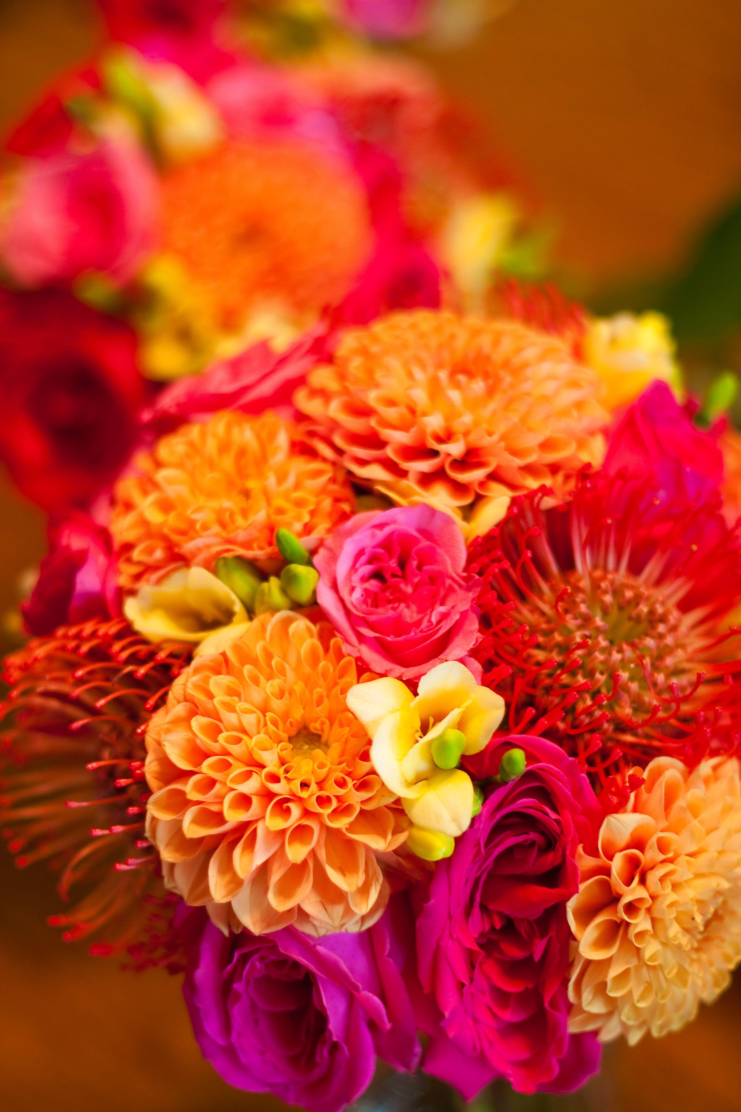 Wedding Flowers Orange And Yellow : Fuschia and yellow mexican style wedding fuchsia