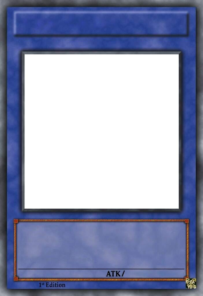 Yu Gi Oh Card Template Blank Template Imgflip For Yugioh Card Template Animasi