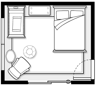 Nursery Floorplan (flip layout and put changing dresser in the the middle between windows)