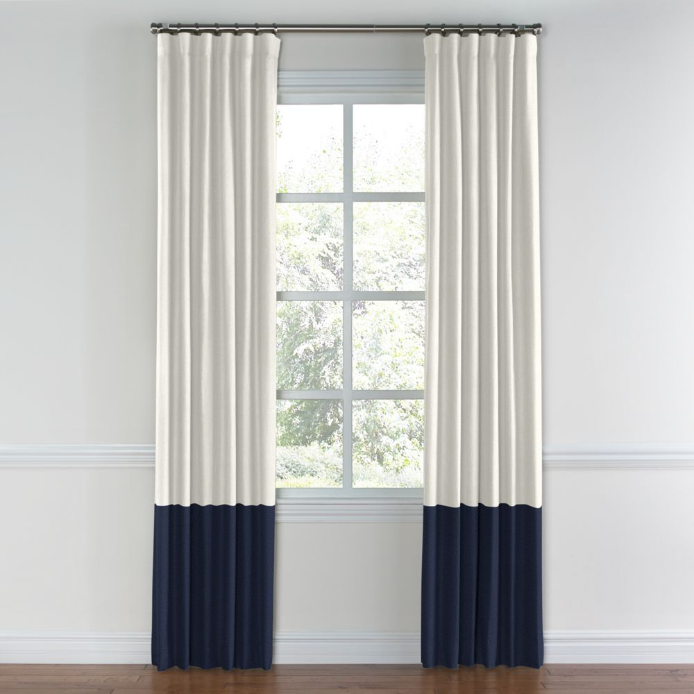 What Colour Curtains Go With Blue Walls: Create Custom Color Block Drapery To Accent Your Room's