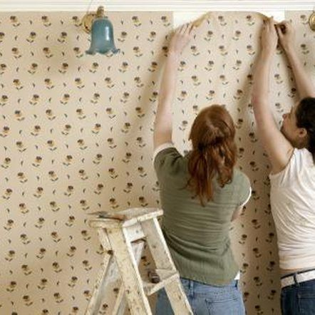 How to Remove Wallpaper Glue Residue | Removing old ...