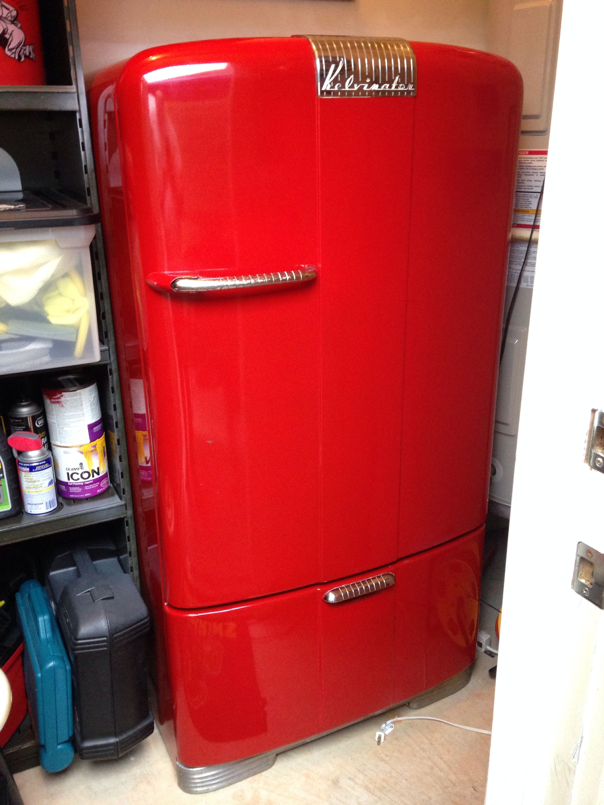 1946 Kelvinator Refrigerator Vintage Refrigerator Vintage Fridge Retro Refrigerator