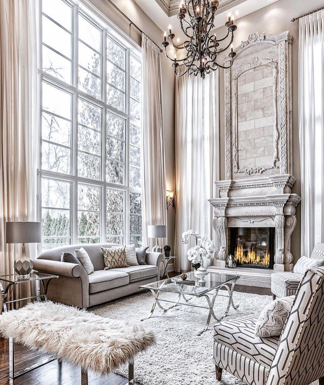 Stunning art deco style grey living room decor | Luxury ...