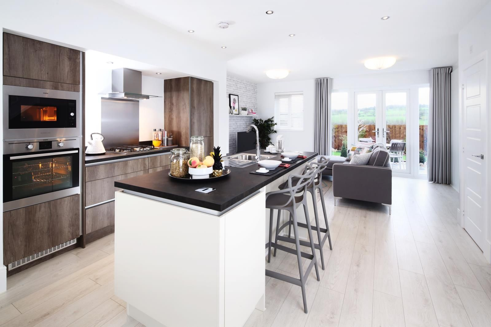 The ultimate contemporary kitchen from Abode by Redrow. Open plan ...