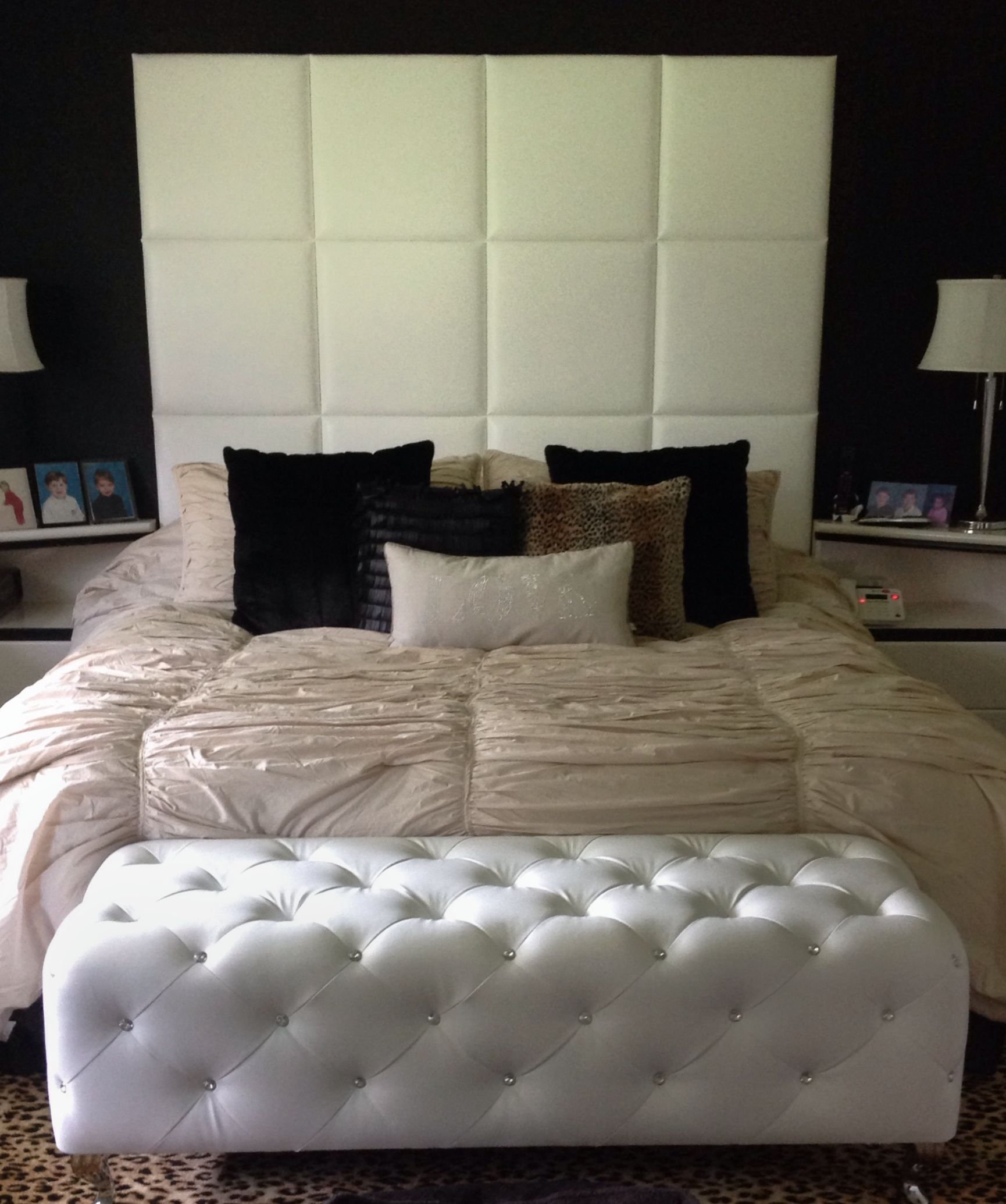 Best Queen Upholstered Headboard With Panels Wrapped In 640 x 480