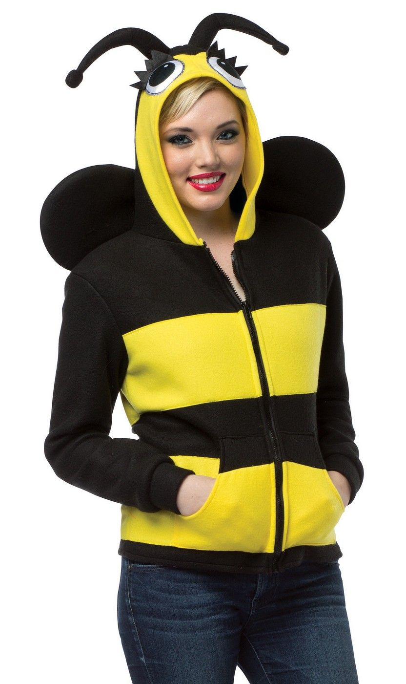 Hoodie Bumble Bee Adult Costume  sc 1 st  Pinterest & Hoodie Bumble Bee Adult Costume | Holidays | Pinterest | Bumble bees ...